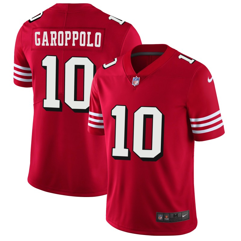 Nike 49ers #10 Jimmy Garoppolo Red Rush Stitched NFL Vapor Untouchable Limited Jersey