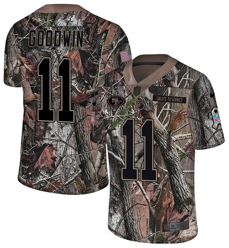 Nike 49ers #11 Marquise Goodwin Camo Men's Stitched NFL Limited Rush Realtree Jersey