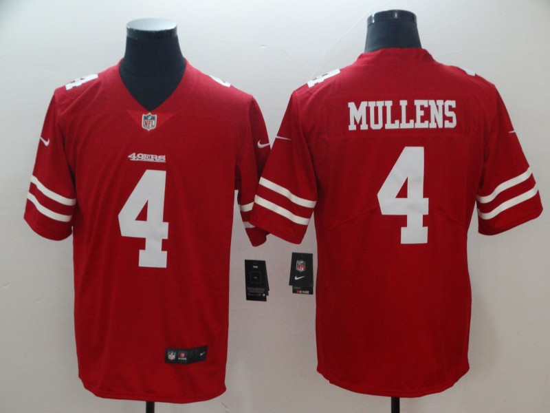 Nike 49ers 4 Nick Mullens Red Vapor Untouchable Limited Jersey