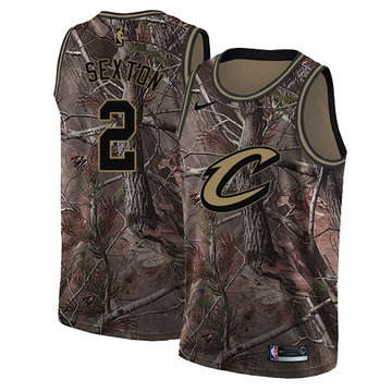 Nike Cavaliers #2 Collin Sexton Camo Youth NBA Swingman Realtree Collection Jersey