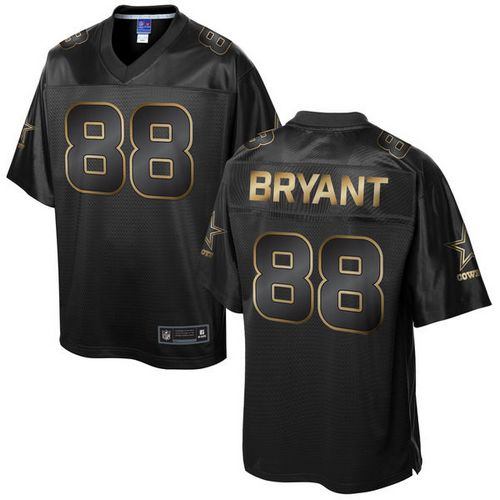 Nike Cowboys #88 Dez Bryant Pro Line Black Gold Collection Men's Stitched NFL Game Jersey Size 48