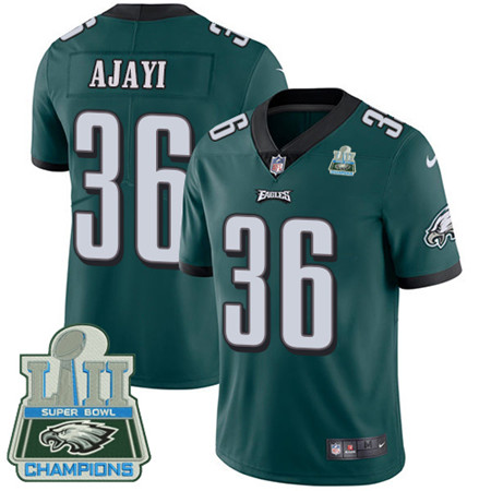 Nike Eagles #36 Jay Ajayi Midnight Green Team Color Super Bowl LII Champions Youth Stitched NFL Vapor Untouchable Limited Jersey