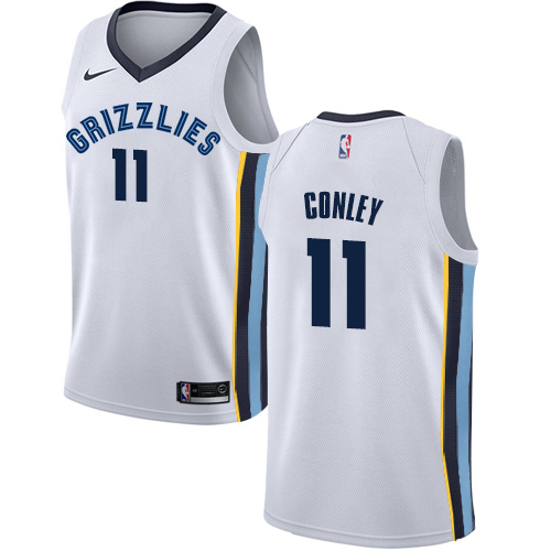 Nike Grizzlies #11 Mike Conley White NBA Swingman Association Edition Jersey