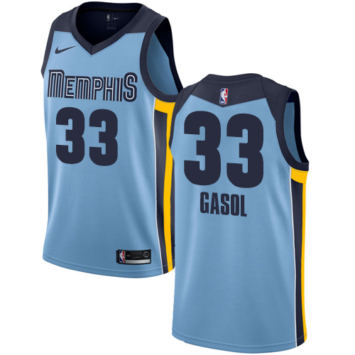Nike Grizzlies #33 Marc Gasol Light Blue NBA Swingman Statement Edition Jersey