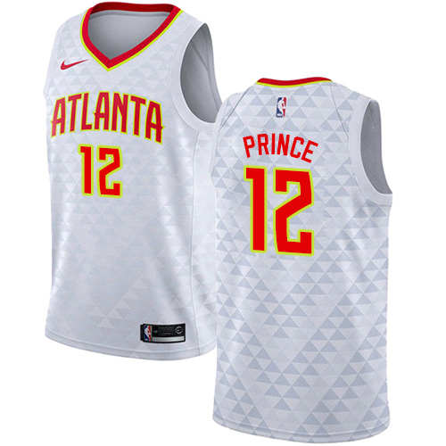 Nike Hawks #12 Taurean Prince White NBA Swingman Association Edition Jersey