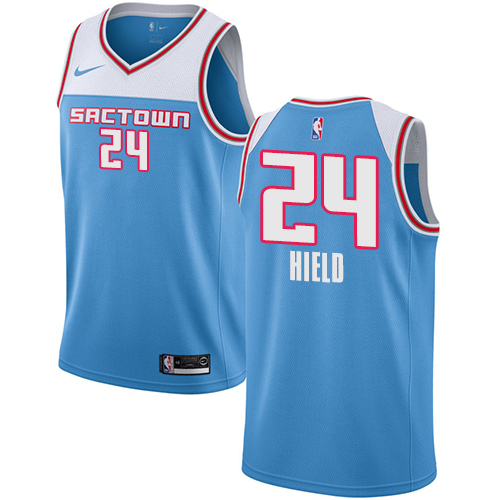 Nike Kings #24 Buddy Hield Blue NBA Swingman City Edition 2018 19 Jersey