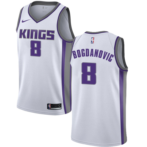 Nike Kings #8 Bogdan Bogdanovic White NBA Swingman Association Edition Jersey
