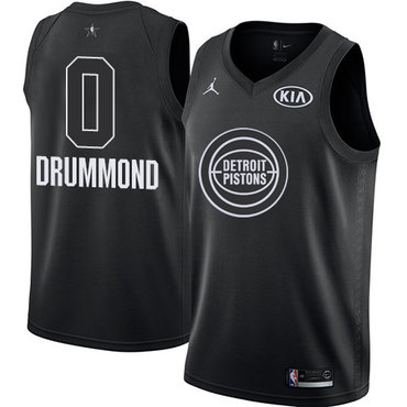 Nike Pistons #0 Andre Drummond Black Youth NBA Jordan Swingman 2018 All-Star Game Jersey