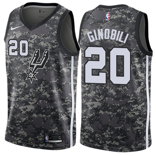 Nike Spurs #20 Manu Ginobili Black NBA Swingman City Edition 2018 19 Jersey