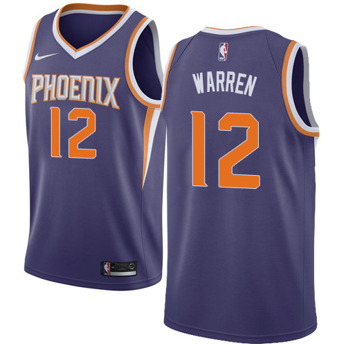 Nike Suns #12 T.J. Warren Black NBA Swingman Statement Edition Jersey 0