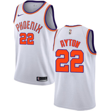 Nike Suns #22 Deandre Ayton White NBA Swingman Association Edition Jersey