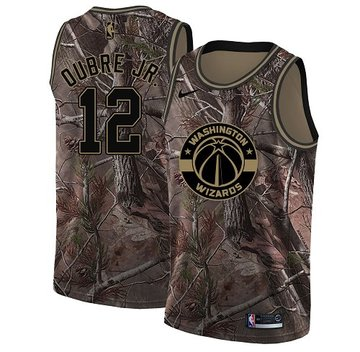 Nike Wizards #12 Kelly Oubre Jr. Camo Women's NBA Swingman Realtree Collection Jersey