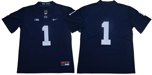 Nittany Lions #1 Navy Blue Limited Stitched NCAA Jersey