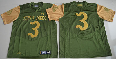 Notre Dame Fighting Irish 3 Green College Jersey