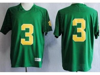 Notre Dame Fighting Irish 3 Joe Montana Green Techfit NCAA Jerseys