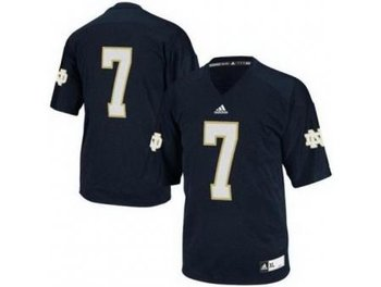 Notre Dame Fighting Irish 7 Stephon Tuitt Blue Techfit College Football NCAA Jerseys