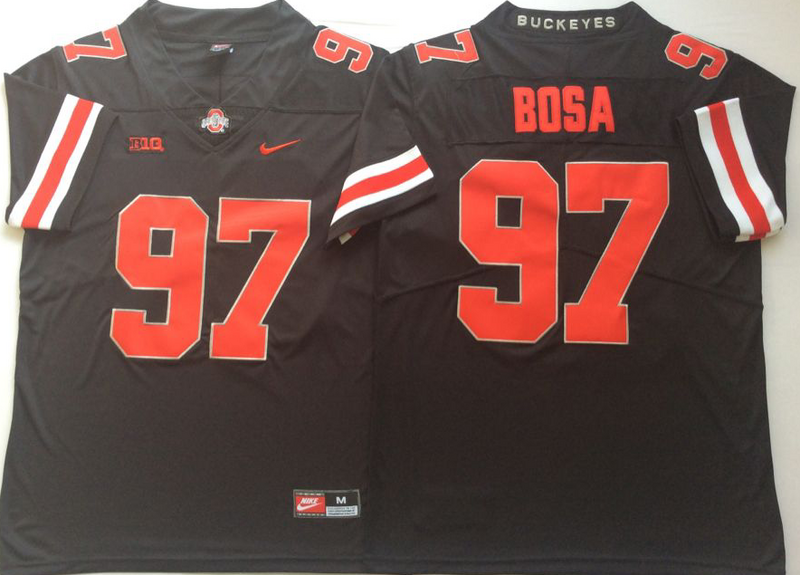 Ohio State Buckeyes 97 Joey Bosa Black Shadow Nike College Football Jersey