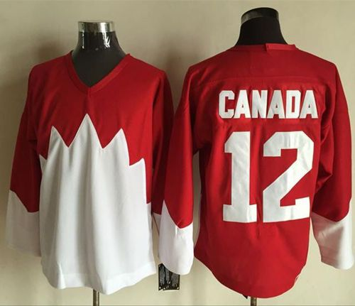Olympic CA. #12 Canada Red White 1972 Commemorative CCM Stitched NHL Jersey