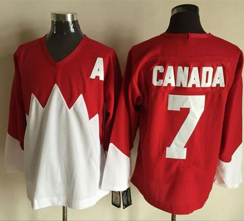 Olympic CA. #7 Canada Red White 1972 Commemorative CCM Stitched NHL Jersey