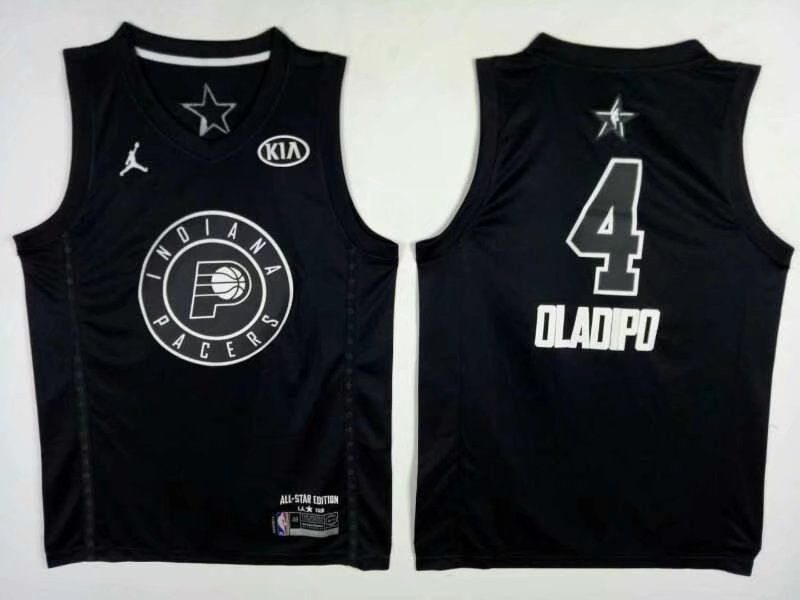 Pacers 4 Victor Oladipo Black 2018 All-Star Game Jordan Brand Authentic Jersey