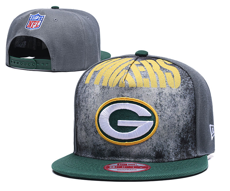 Packers Team Logo Gray Green Adjustable Hat TX