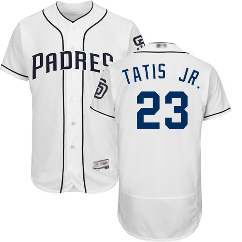 Padres #23 Fernando Tatis Jr. White Flexbase Authentic Collection Stitched Baseball Jersey