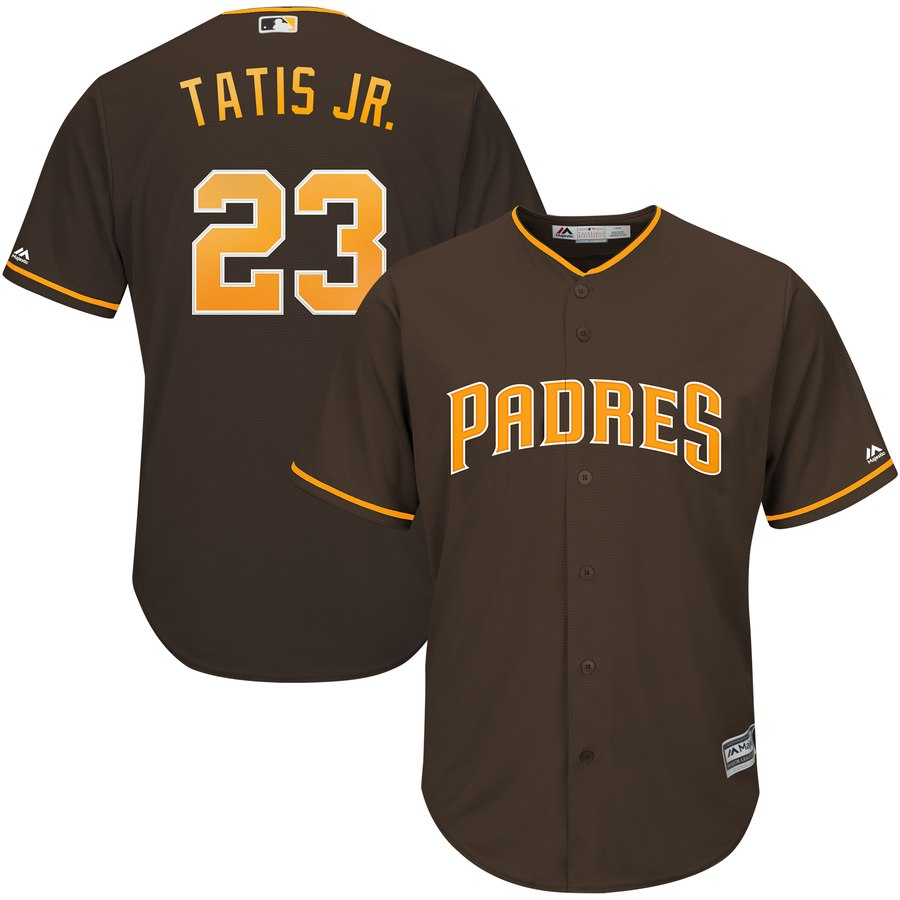 Padres 23 Fernando Tatis Jr. Brown Cool Base Jersey