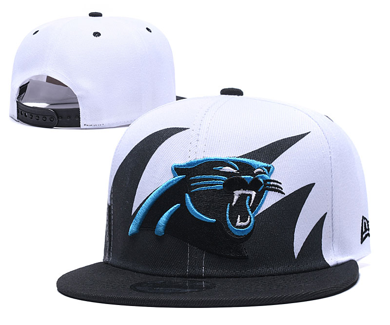 Panthers Team Logo White Adjustable Hat GS