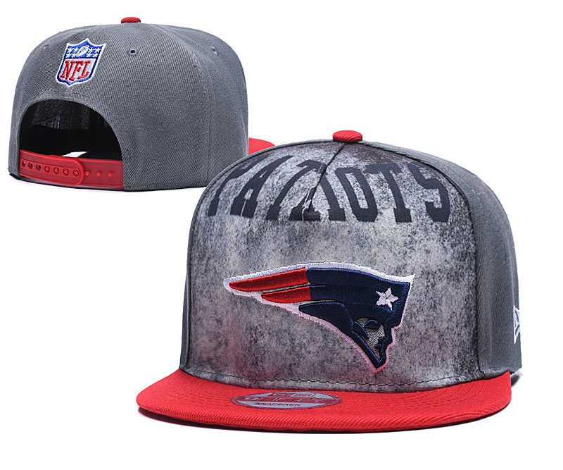 Patriots Team Logo Gray Red Adjustable Hat TX