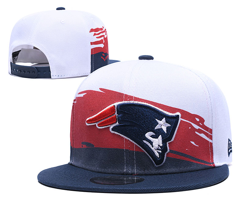 Patriots Team Logo White Adjustable Hat GS