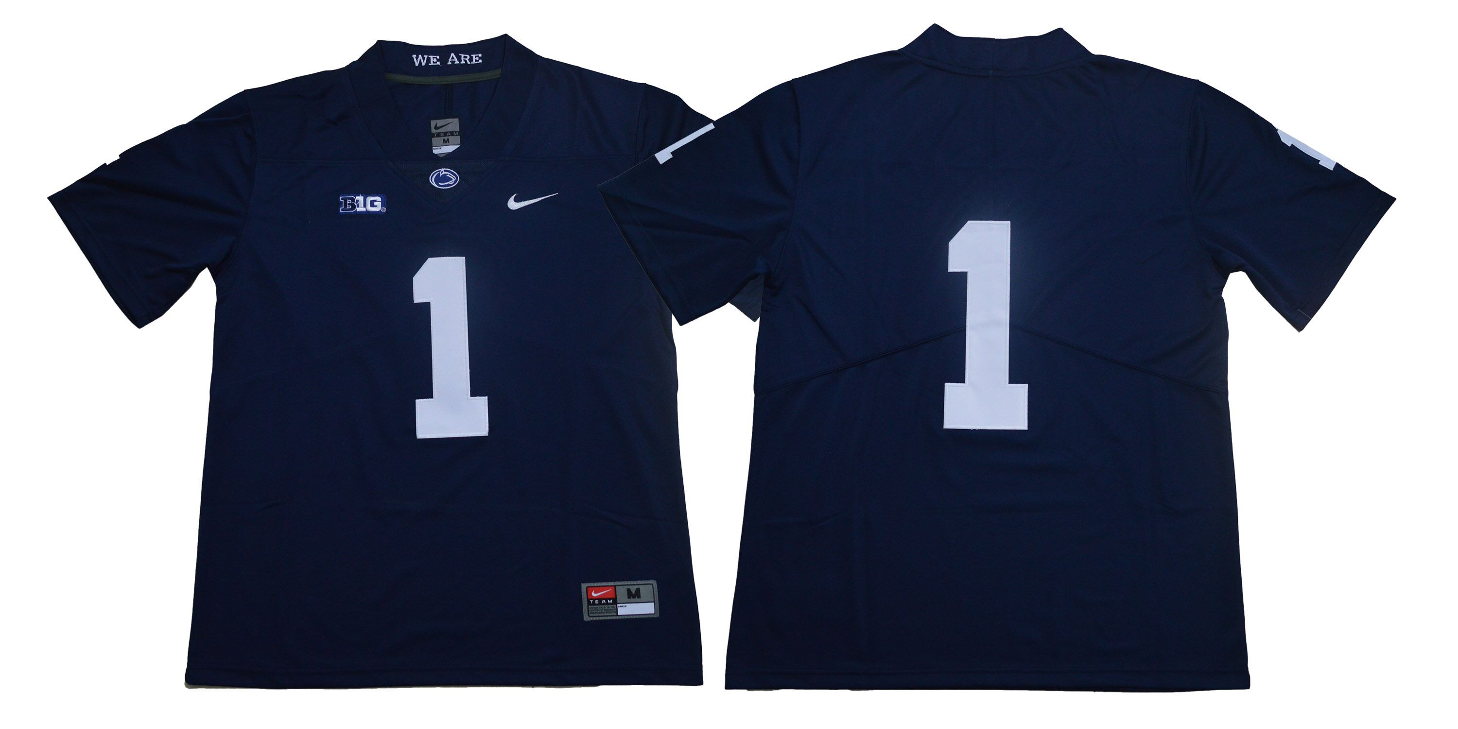 Penn State Nittany Lions #1 Navy Nike College Football Jersey