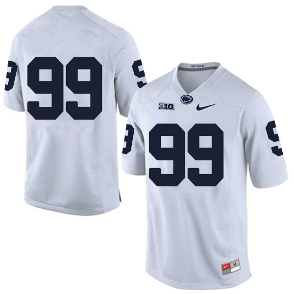 Penn State Nittany Lions no. 99 Yetur Gross-Matos Nike White Mens College Football Jersey - No Name