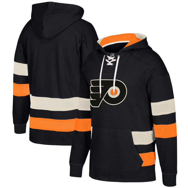 Philadelphia Flyers Black Men's Customized All Stitched Hooded Sweatshirt