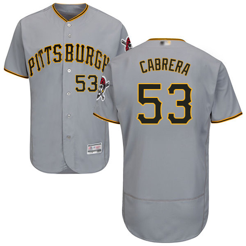 Pirates #53 Melky Cabrera Grey Flexbase Authentic Collection Stitched Baseball Jersey