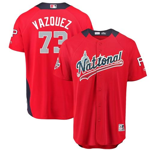 Pirates #73 Felipe Vazquez Red 2018 All-Star National League Stitched Baseball Jersey
