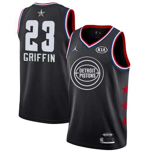 Pistons #23 Blake Griffin Black Basketball Jordan Swingman 2019 All-Star Game Jersey