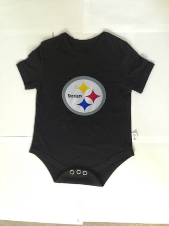 Pittsburgh Steelers Infant TD Creeper Set - Black