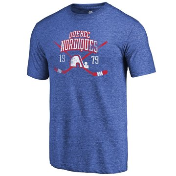 Quebec Nordiques Fanatics Branded Royal Vintage Collection Line Shift Tri Blend T-Shirt