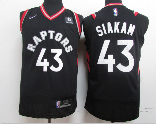Raptors 43 Pascal Siakam Black Nike Authentic Jersey