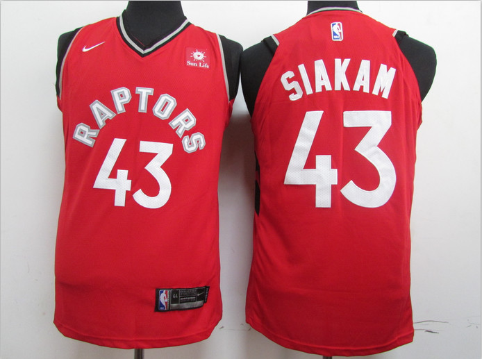 Raptors 43 Pascal Siakam Red Nike Authentic Jersey