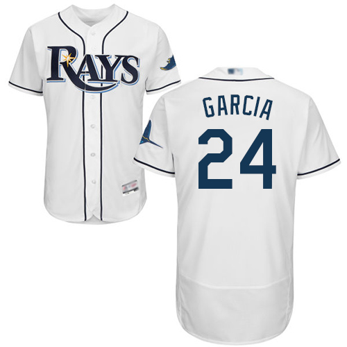 Rays #24 Avisail Garcia White Flexbase Authentic Collection Stitched Baseball Jersey