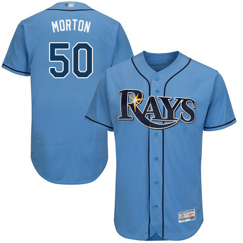 Rays #50 Charlie Morton Light Blue Flexbase Authentic Collection Stitched Baseball Jersey