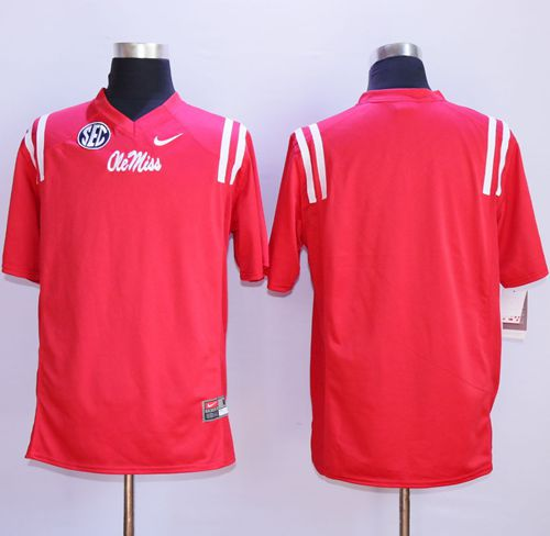 Rebels Blank Red Stitched NCAA Jersey