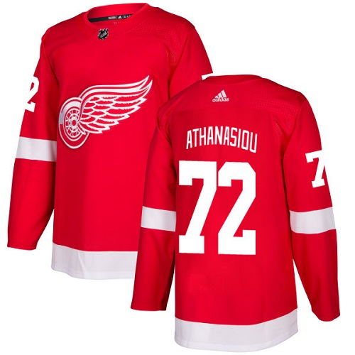 Red Wings #72 Andreas Athanasiou Red Home Authentic Stitched Hockey Jersey