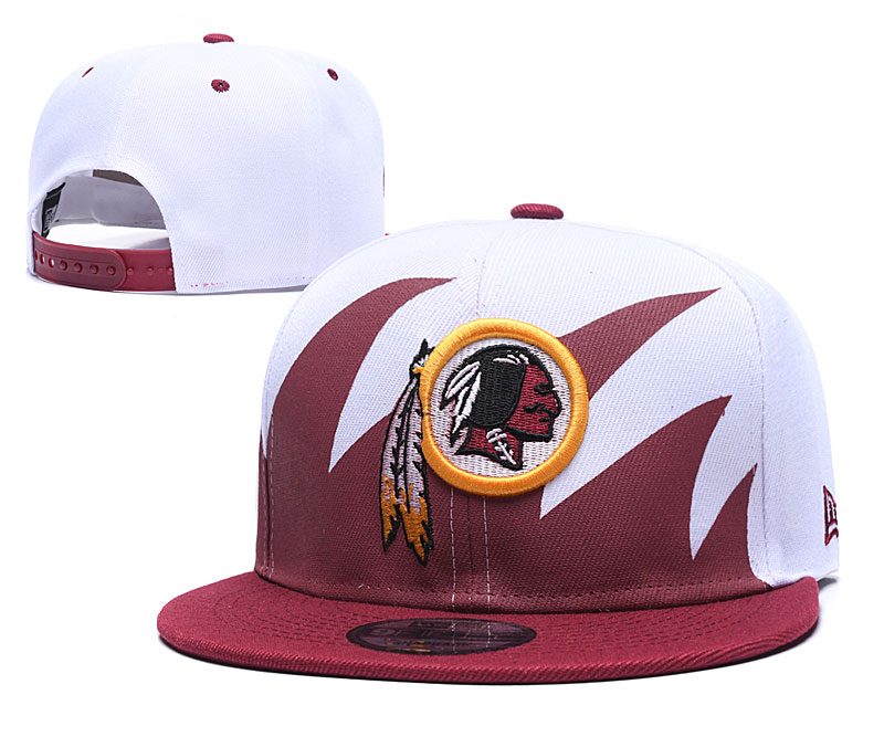 Redskins Team Logo White Red Adjustable Hat GS