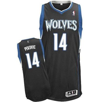 Revolution 30 Minnesota Timberwolves #14 Nikola Pekovic Black Stitched NBA Jersey