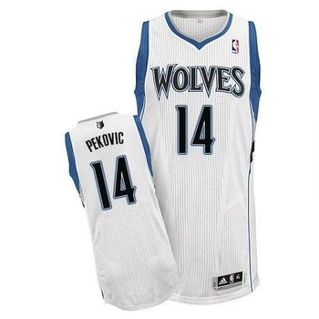 Revolution 30 Minnesota Timberwolves #14 Nikola Pekovic White Stitched NBA Jersey