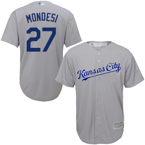 Royals #27 Raul Mondesi Grey Cool Base Stitched Youth Baseball Jersey