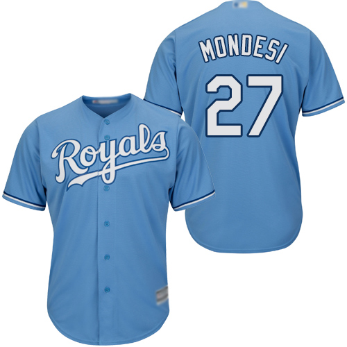 Royals #27 Raul Mondesi Light Blue Cool Base Stitched Youth Baseball Jersey