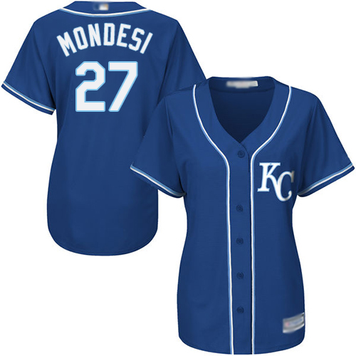 Royals #27 Raul Mondesi Royal Blue Alternate Women's Stitched Baseball Jersey